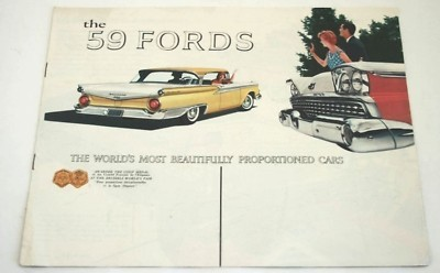 Original Dealer Showroom Brochure - 1959 Ford
