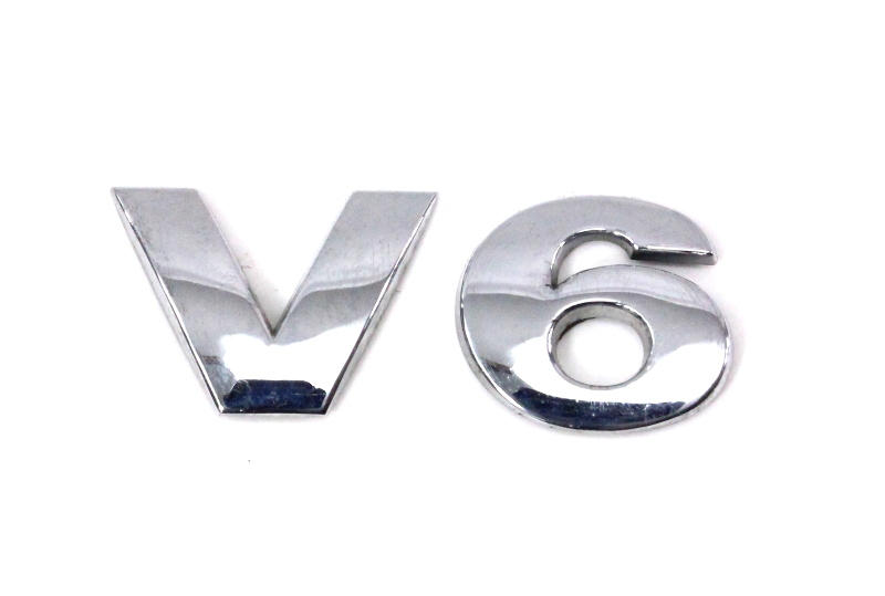 V6 - Trunk Hatch Emblem Badge Letters - 98-05 VW Passat B5 B5.5 - Genuine