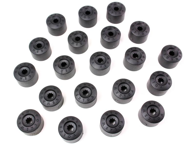 Set Of 20 Wheel Lug Bolt Nut Cap Covers W Jetta Rabbit Mk5 GTI Passat B6