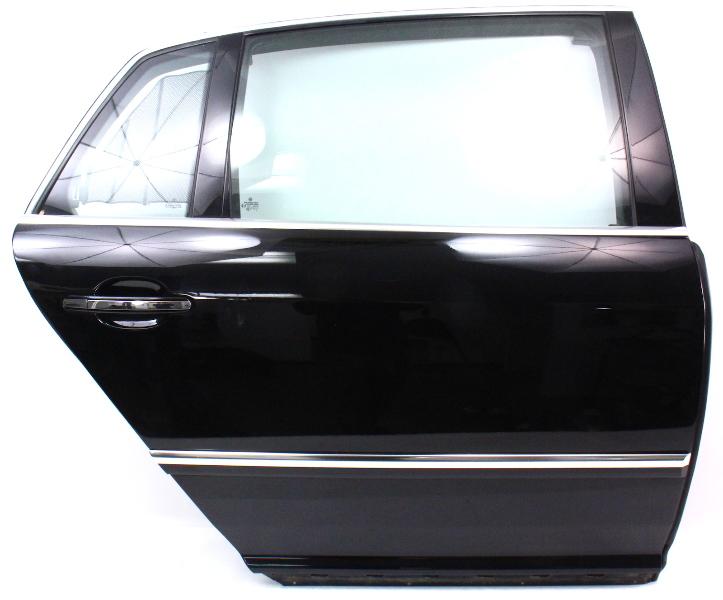 RH Rear Door Shell Assembly 04-06 VW Phaeton - L041 Black - Genuine