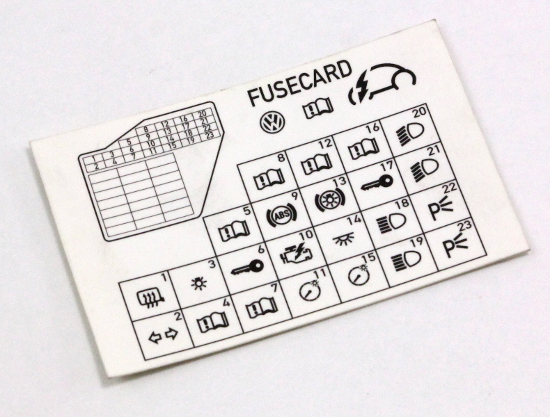 dash fuse box diagram card 98 10 vw beetle genuine 1c0. Black Bedroom Furniture Sets. Home Design Ideas