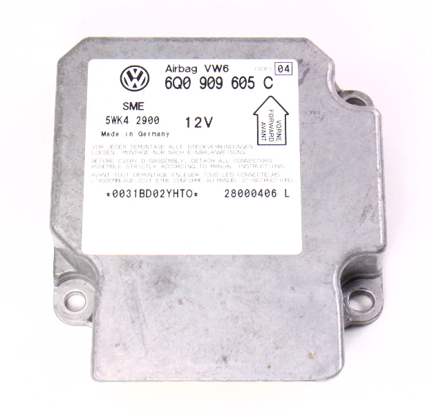 Airbag Module Computer - 2001 VW Passat B5 B5.5 - Air Bag - 6Q0 909 605 C