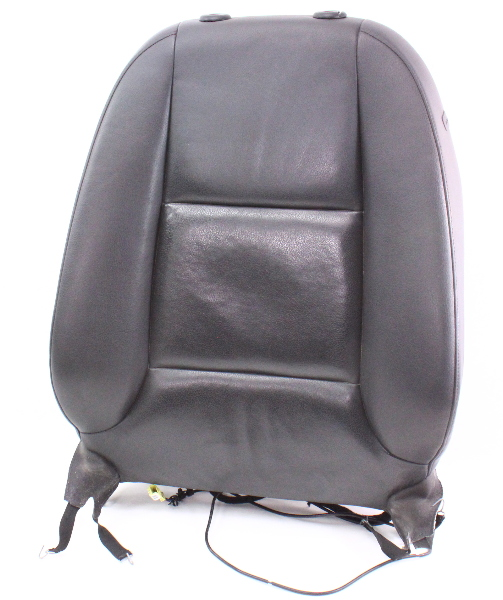 LH Front Seat Upper Back Rest Complete 06-13 Audi A3 8P - Black Leather
