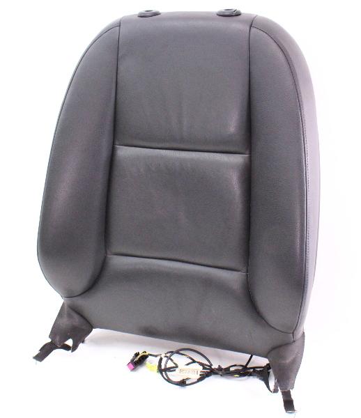RH Front Seat Upper Back Rest Complete 06-13 Audi A3 8P - Black Leather