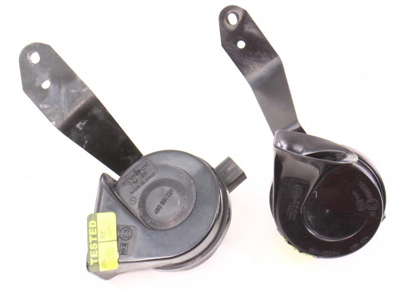 High & Low Tone Horn / Brackets Stebel Hella 98-04 Audi A6 C5 - 8Z0 951 221 A