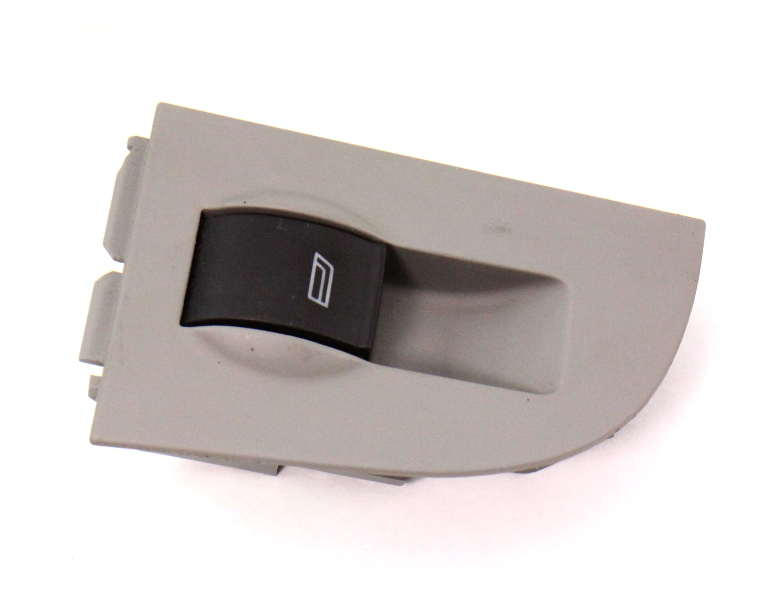 LH Rear Window Switch & Trim 98-04 Audi A6 S6 C5 Allroad - Grey - 4B0 959 855