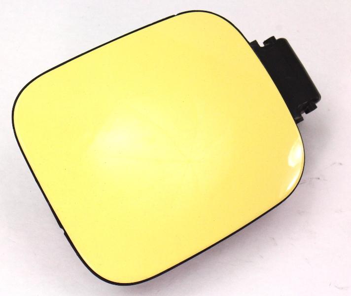 Gas Fuel Door Filler Flap 98-05 VW Beetle LD1B Yellow Genuine - 1C0 809 857 E