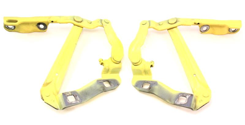 Hood Hinges Pair 98-10 VW Beetle LD1B Yellow - Genuine - 1C0 823 301 / 302