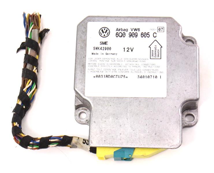 Airbag Module Computer - 01-02 VW Passat B5 B5.5 - Air Bag - 6Q0 909 605 C