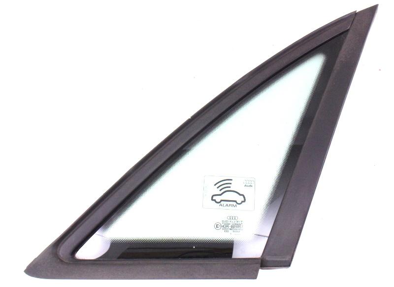RH Rear Quarter Window Small Side Glass 2002 02 Audi A4 B6 Black Trim - Genuine