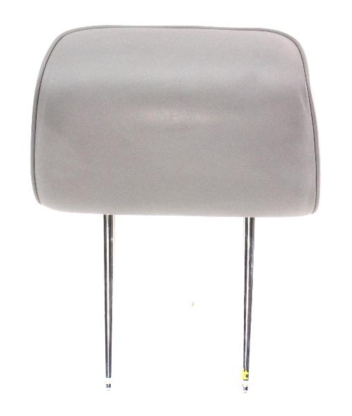 Front Seat Head Rest 04-06 VW Phaeton - Headrest - Grey Leather - Genuine