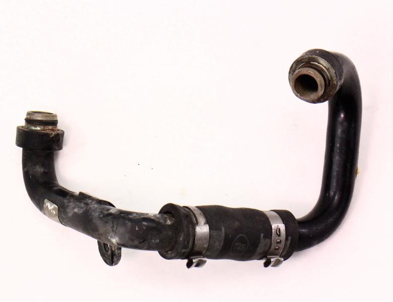 Intake Manifold Metal Coolant Line Hose Pipe Tube 04-06 VW Phaeton V8 - Genuine