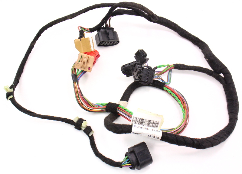LH Driver Front Door Panel Wiring Harness 98-01 Audi A6 C5 - 4B0 971 035 AJ