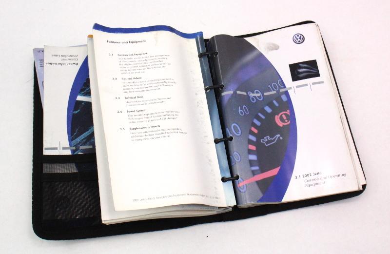2002 volkswagen jetta owners manual book booklet vw mk4 genuine ebay rh ebay com 2002 volkswagen jetta owners manual 2002 vw jetta repair manual pdf