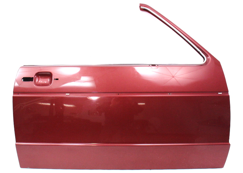 RH Front Door Shell Skin 80-93 VW Rabbit Convertible Cabriolet MK1 LB3V Red