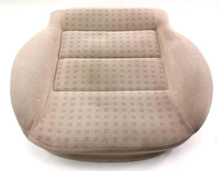Front Seat Cushion & Cover VW Jetta Golf MK4 Passat Beige Cloth - Genuine
