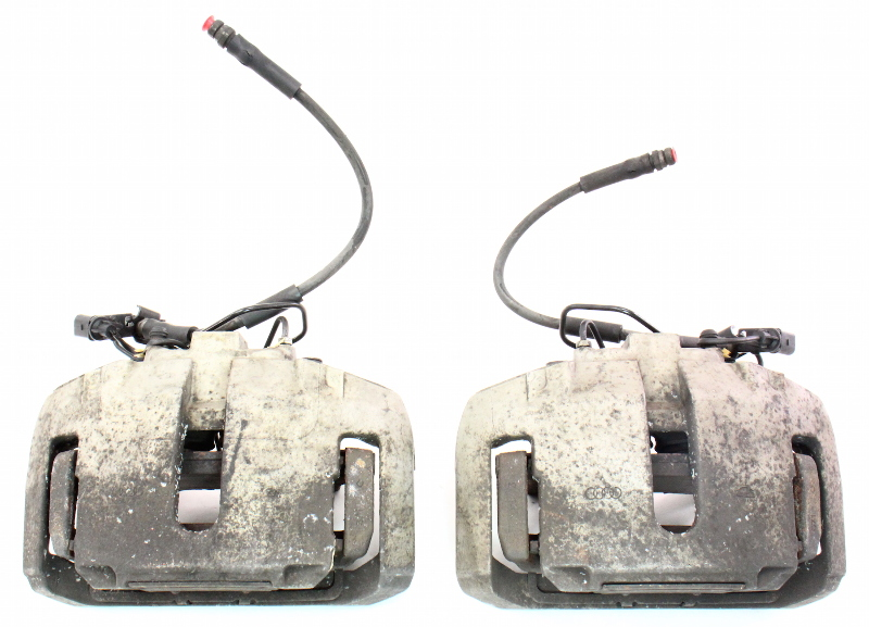 Front Big Brake Dual Piston Calipers & Carriers 04-06 VW Phaeton 03-09 Audi A8