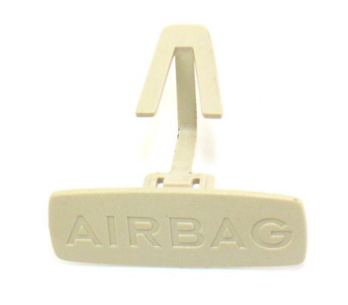 B Pillar Airbag Trim Clip Cap 99-05 VW Jetta Golf Beige Emblem Badge 1J0 853 437