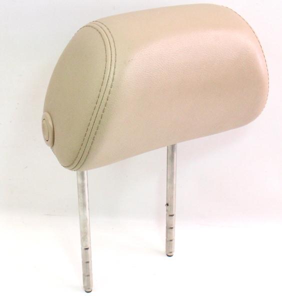 RH Front Seat Headrest 01-05 VW Passat B5.5 Sunshine Beige Leather ~ Head Rest