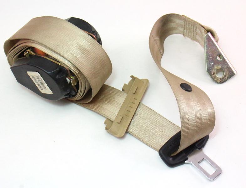 LH Rear Seatbelt 05-10 VW Jetta Rabbit MK5 - Beige Seat Belt - 1K5 857 805