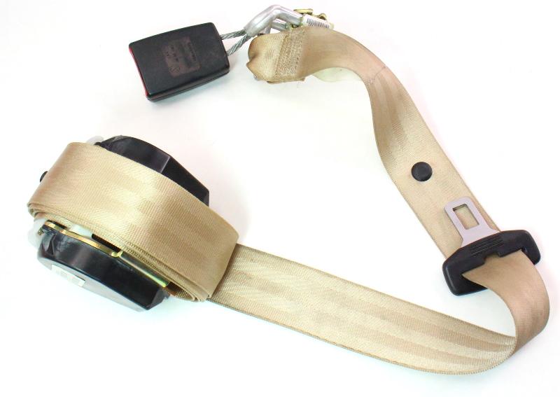Center Rear Seatbelt Seat Belt 05-10 VW Jetta Sedan MK5 - Beige - 1K5 857 807 B
