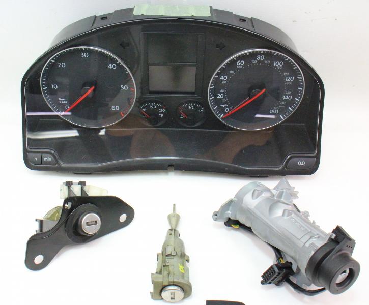 Lock Key Set Ignition Gauge Cluster Ecu Immobilizer 05 10 Vw Jetta Mk5 Tdi Ebay