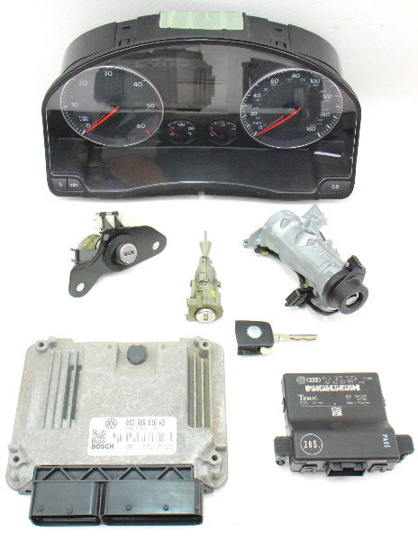 Lock Key Set Ignition Gauge Cluster Ecu Immobilizer 05 10