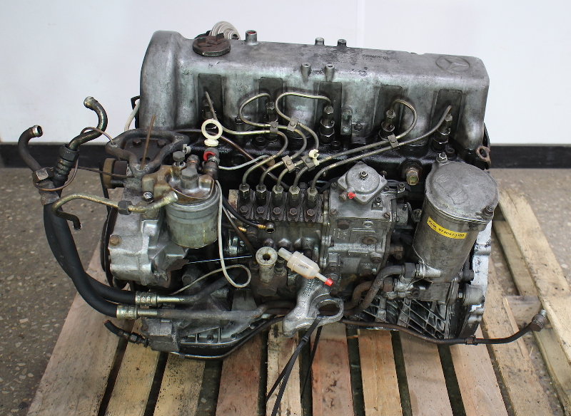 Om617 951 mercedes turbo diesel complete engine long block for Mercedes benz 300d parts