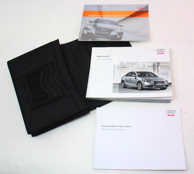 owners manual books case 2009 audi a4 b8 genuine ebay rh ebay com audi a4 2009 service manual pdf 2009 audi a4 2.0t quattro owner's manual