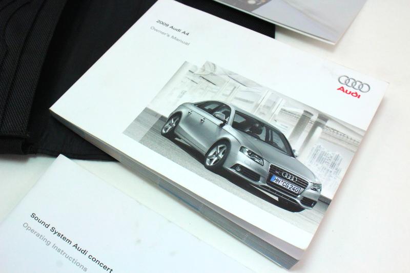 owners manual books case 2009 audi a4 b8 genuine ebay rh ebay com Audi A4 B7 B1 Audi A4