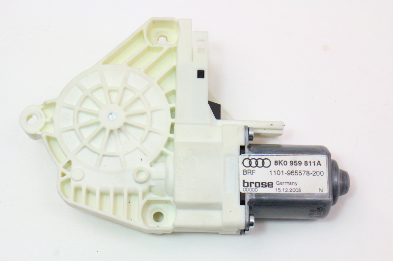 LH Rear Power Window Motor 09-16 Audi A4 S4 B8 - Genuine - 8K0 959 811 A