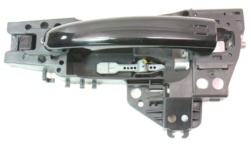 LH Rear Exterior Door Handle 09-12 Audi A4 S4 B8 - LY9B Black - Genuine