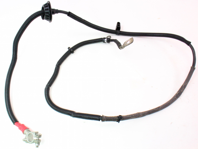 positive battery cable terminal wiring harness 05-08 audi a4 b7 2 0t