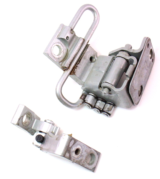 Driver Front Door Hinges 02-08 Audi A4 S4 B6 B7 - LY7W Silver - 8E0 831 411 B