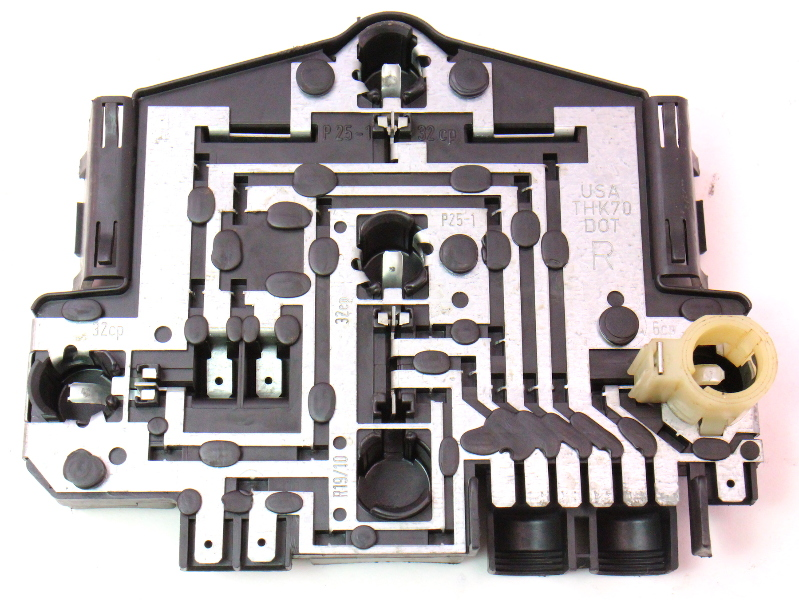 RH Tail Light Lamp Bulb Holder Tray Board 85-92 VW Jetta MK2 Hella - 165 945 258