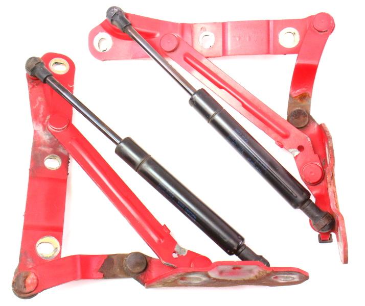 Trunk Hinges & Shocks Lift Struts 93-99 VW Jetta MK3 LY3D Tornado Red - Genuine