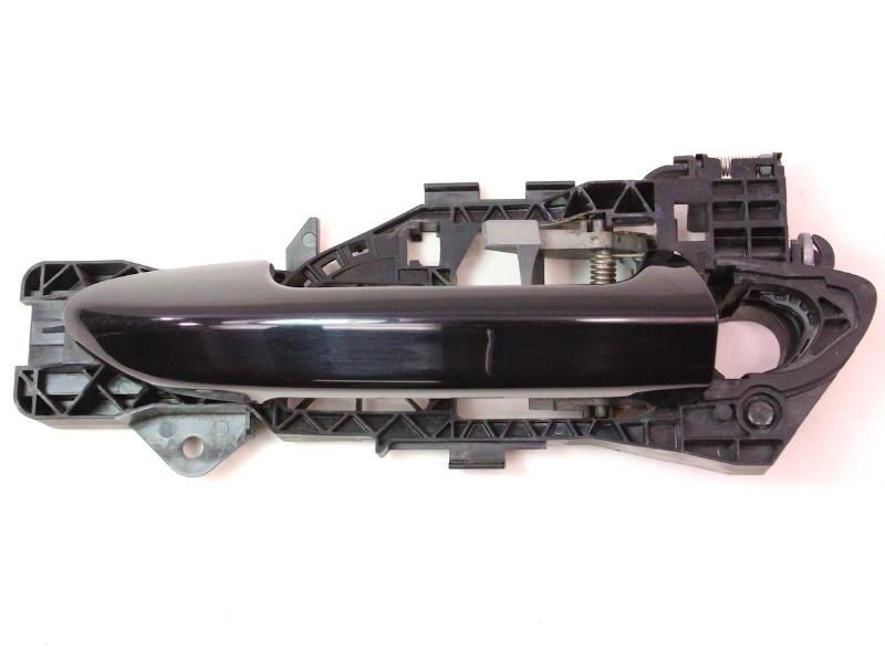 LH Rear Exterior Door Handle 06-10 VW Passat B6 - LC9X Black - 3C0 837 885 G