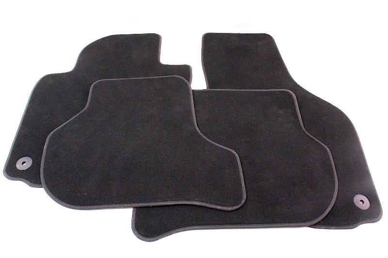 Floor Mats Carpet Set 06-10 VW Jetta Rabbit GTI MK5 Genuine - 1K1 863 011 M