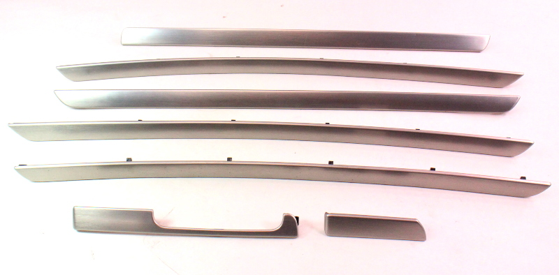 Brushed Aluminum Dash & Door Trim Set VW 05-10 Jetta GLI GTI Rabbit Mk5