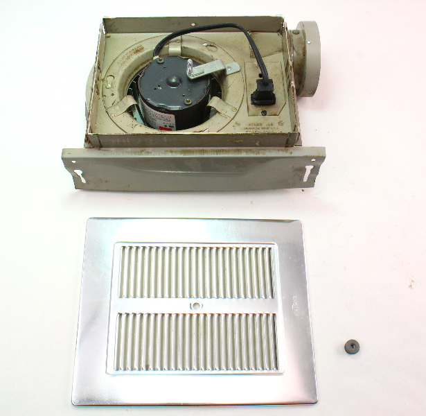 nutone model vintage old school bathroom fan assembly with grill cover