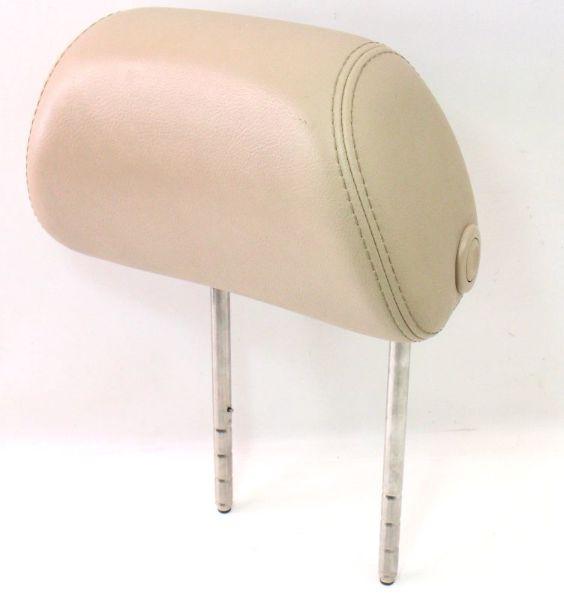 LH Front Seat Headrest 01-05 VW Passat B5.5 Sunshine Beige Leather ~ Head Rest