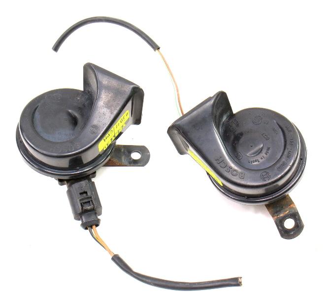 Bosch High & Low Tone Horn Set 01-05 VW Passat B5.5 Brackets & Wiring ~ Genuine