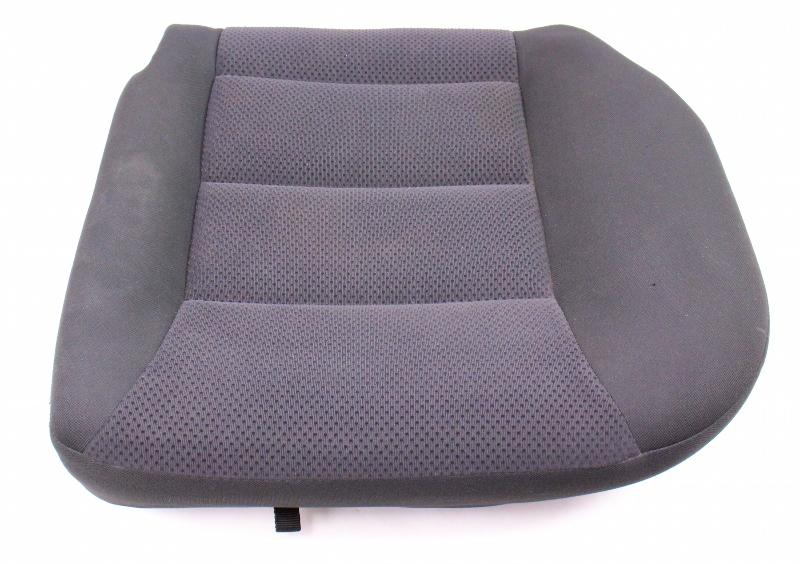 LH Rear Back Seat Cushion & Cover 04-05 VW Jetta Golf MK4 Dark Grey Cloth