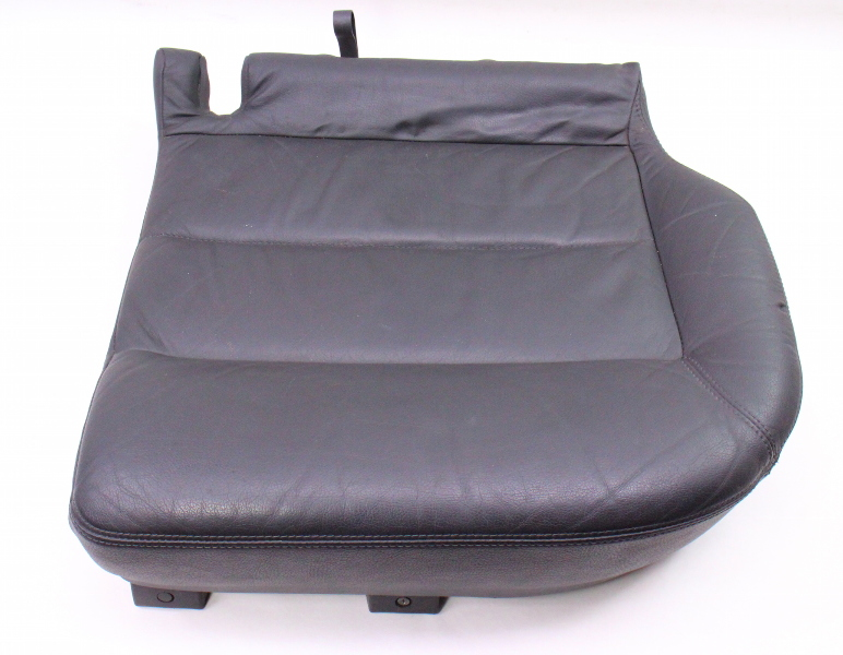 LH Rear Lower Seat Cushion & Cover 01-05 VW Passat Wagon B5.5 Dark Grey Leather