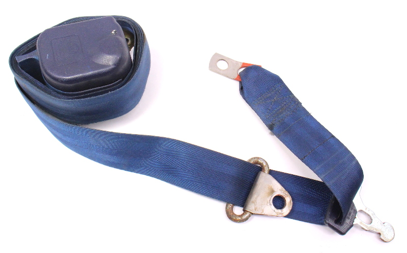 LH Front Seatbelt Shoulder Belt 80-83 VW Rabbit Pickup MK1 - Blue - 179 857 705