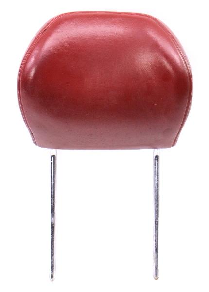 Red Vinyl Front Seat Head Rest Headrest 75-84 VW Rabbit MK1 - Genuine