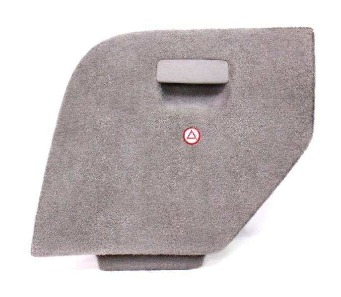 LH Trunk Side Carpet Door VW Jetta Wagon MK4 Hatch Access Panel - Grey - Genuine