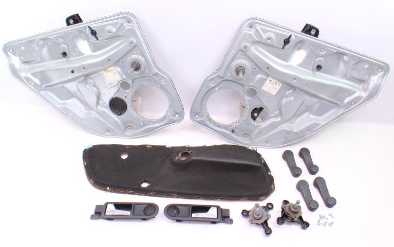 Manual Crank Window Conversion Swap Kit 99-05 VW Jetta Golf MK4 ~ Genuine Parts