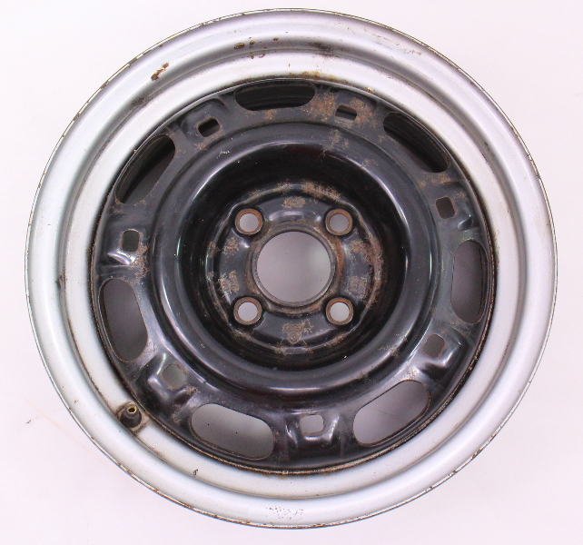 "14"" Steel Wheel Rim 90-93 VW Passat B3 4x100 - Genuine - 357 601 025 A/B"