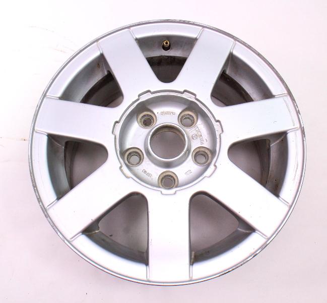 "15"" Stock Alloy Wheel Rim 98-01 VW Passat B5 7 Spoke - Genuine - 3B0 601 025 A"